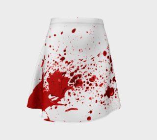Blood Splatter First Cosplay Halloween Flare Skirt preview