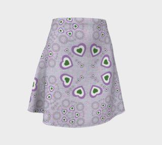 Genderqueer Pride Pattern Skirt (woven bg) preview