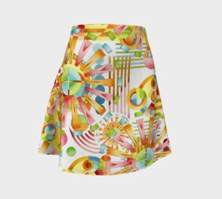 Aperçu de Art Deco Fireworks Flare Skirt