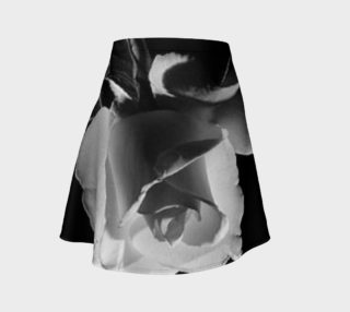 A pure white rose black N white flare skirt preview