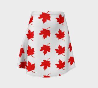 Aperçu de Red Maple Leaf Flare Skirt