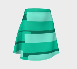 Teal Ocean Flare Skirt preview