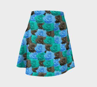 Blue Roses Flare Skirt preview