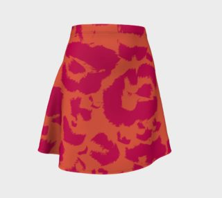 Hot Orange and Pink Leopard Animal Print Pattern aperçu