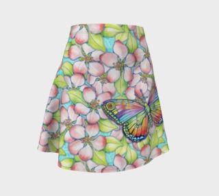 Aperçu de Apple Blossom Butterflies Flare Skirt