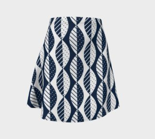 Mod Leaves in Navy and White preview