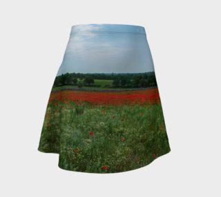 Utterly Italy Puglia Poppy Field Flare Skirt preview