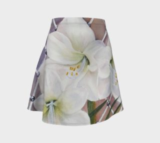 Watercolor White Amaryllis Lily Flowers preview