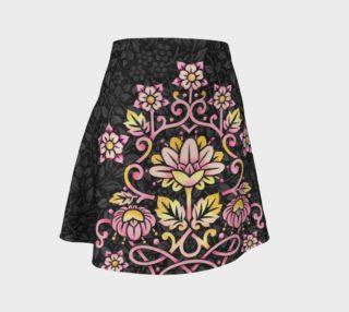 Rose Damask Flare Skirt preview