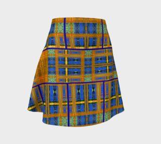 Channeling Vincent / Virtual Vincent™ Multi-Window Kilt Flare Skirt preview
