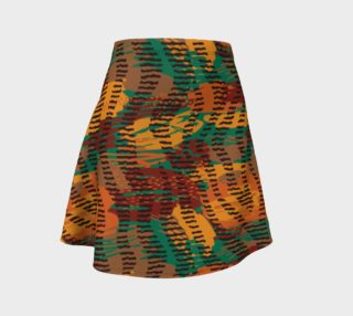 Abstract Animal Stripes Flare Skirt preview