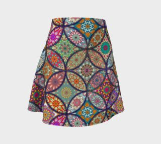 Vibrant Mandalas Flare Skirt preview