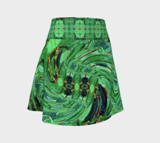 Kansas Green Tornado Flare Skirt preview
