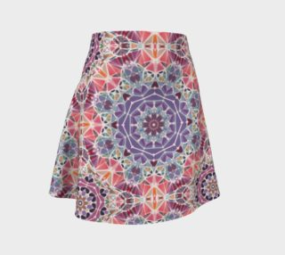 Purple and Pink Kaleidoscope Flare Skirt preview