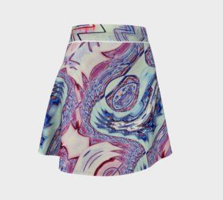 Luna Park Watercolor-Dragon  Flare Skirt preview