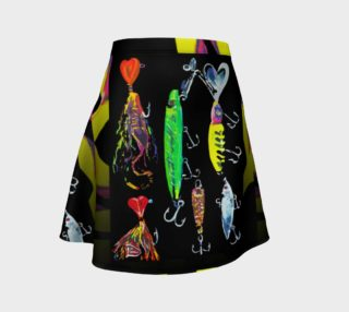 The New a-Lure-ing You 3-d Optical-Print Flare Skirt preview