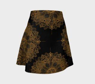 Golden Mandala Pattern Flare Skirt preview