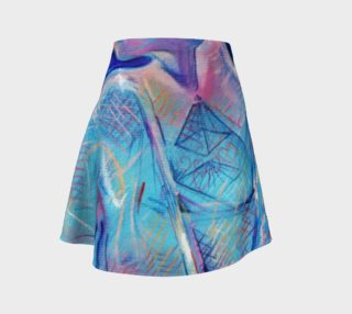 Fire Maiden Pyramid-Sketch Flair Skirt preview