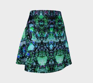 """Asteroids"" : Green - Flared skirt aperçu"