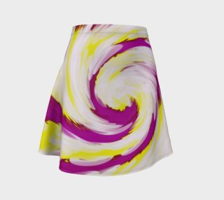 Bright Pink Yellow Swirl Abstract  preview