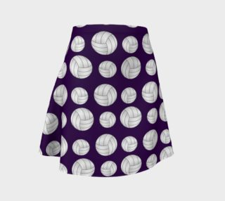 Purple volleyballs pattern skirt preview