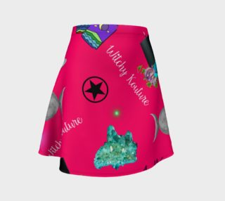 WK #ModernWitchLife Pink Print Flare Skirt preview