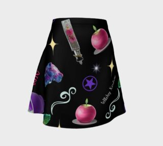 WK #ModernWitchLife Black Print Flare Skirt preview