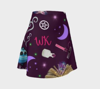 WK #ModernWitchLife Purple Print Flare Skirt preview