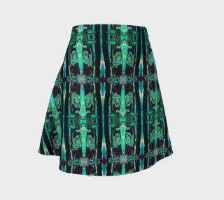 Green Ocean Flare Skirt preview