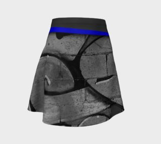 CHOLO - Gray/Blue - Flare Skirt preview
