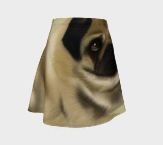 Pug Love Flared Skirt preview