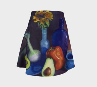 Avocado & Red Pepper Flare Skirt preview