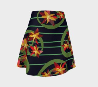 Fire Red Floral Design Skirt preview