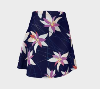 Blue Pink Floral Skirt preview