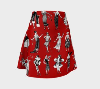 Aperçu de La Vie Parisienne Rouge - Flare Skirt