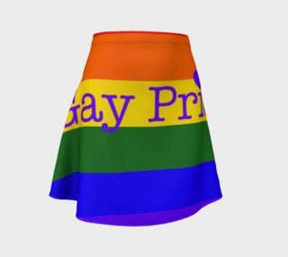 Gay Pride Love Flared Skirt preview