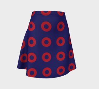 Phish Red Circle Donuts Flare Skirt2 preview