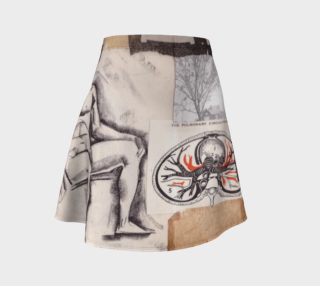 Seated Man Flare Skirt preview