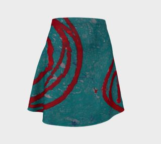 Red Spirals Flare Skirt preview