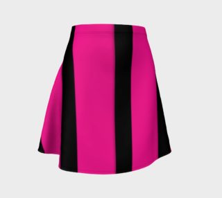 Pink Black Striped Flare Skirt  preview