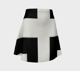 Black White Striped Flare Skirt  preview