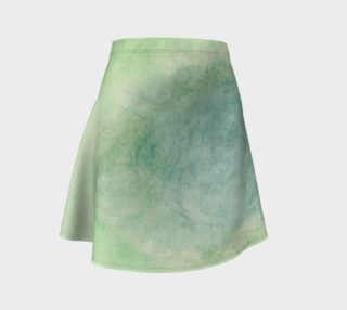 Green Dimension Flower Flare Skirt preview