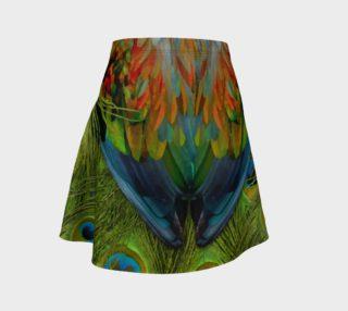 Aperçu de Nicobar-Peacock Fantasy Flare Skirt