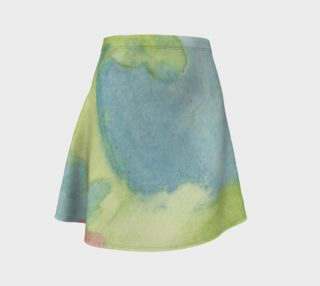 Flowers in Stained Glass Flare Skirt preview