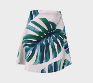 Monstera Pattern Flare Skirt preview