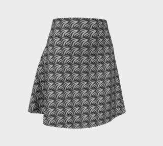 Aperçu de Black flame peacock flare skirt