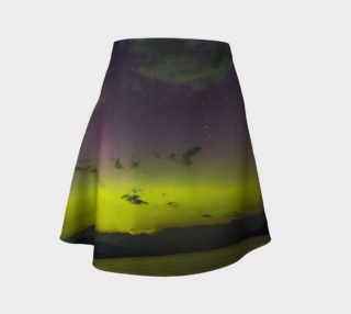 Aperçu de Yellow Sunset Northern Lights Flared Skirt