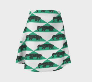 Aperçu de Geometric Elephants Skirt