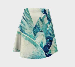 Banana Leaf Crush Flare Skirt preview