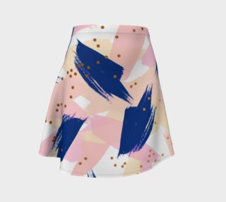 Abstract Painting V3 Flare skirt preview